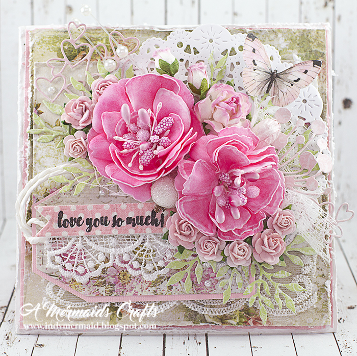 Stunning Rich Pink Card