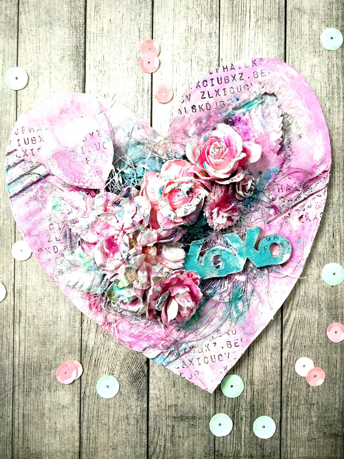 Lovely Heart in Candy Colours