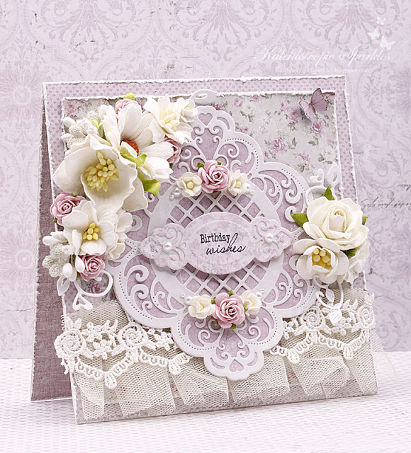 Elegant and sweet card for a lovely friend.