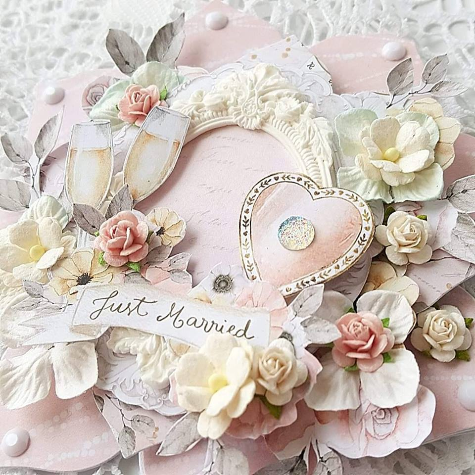 JUST MARRIED WEDDING HEARTS