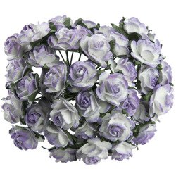 2-TONE LILAC MULBERRY PAPER OPEN ROSES