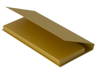 Box for chocolate 9 x 19 x 1,7 cm - gold