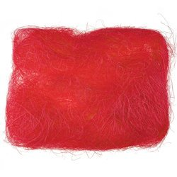 Decoration sisal fiber - red