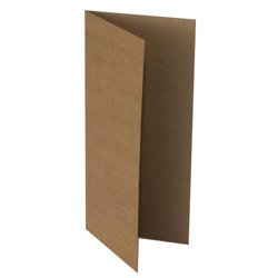 "Kraft base for cards 10x21 cm (4x8.3"")"