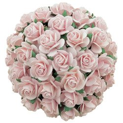 PALE PINK MULBERRY PAPER OPEN ROSES