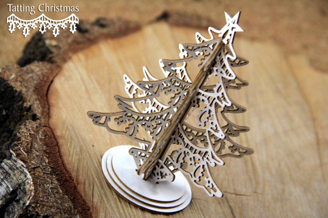 Orchid Christmas Tree.Tatting Christmas Christmas Tree 3d 115874 Wild