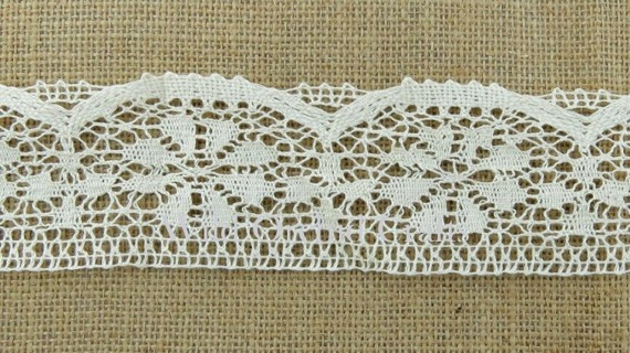 1.1 Yards (1 METRE) LENGTH IVORY GUIPURE LACE