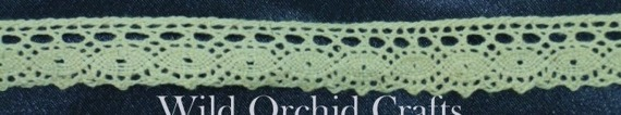 1.1 Yards (1 METRE) NATURAL COTTON LACE