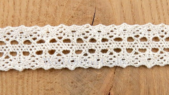 1 METRE (1.1 Yards) LENGTH NATURAL COTTON LACE