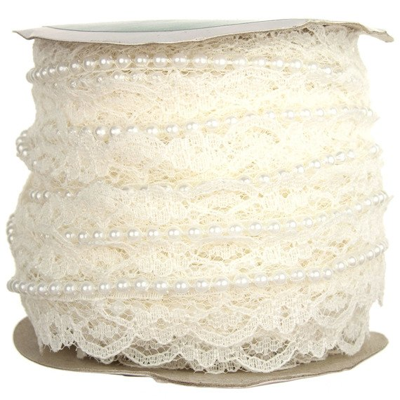 1 METRE (1.1 Yards) LENGTH WHITE NET LACE