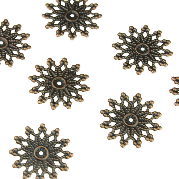 10 ANTIQUE BRONZE SUN EMBELLISHMET