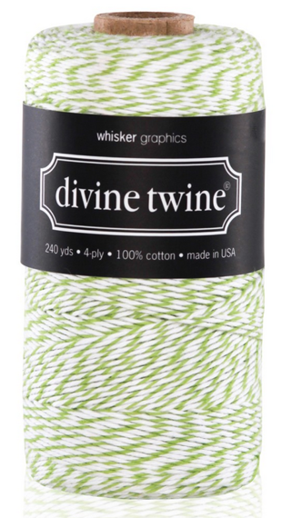 10 METRES GREEN-WHITE DIVINE BAKERS TWINE (10.93 yards)