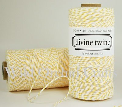 10 METRES YELLOW-WHITE DIVINE BAKERS TWINE (10.93 yards)