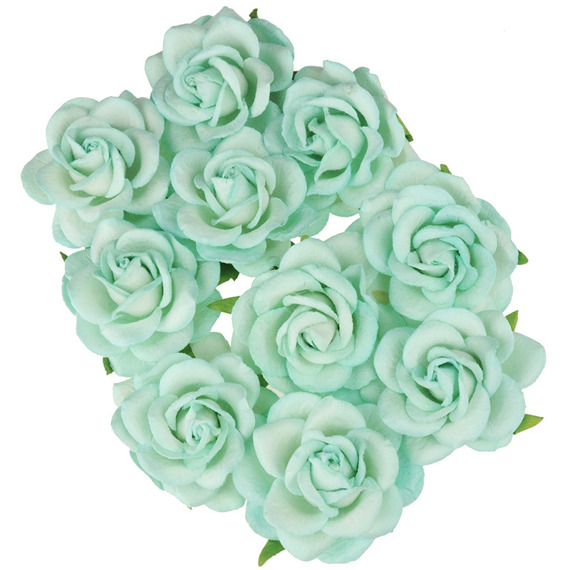 10 MINT MULBERRY PAPER CHELSEA ROSES
