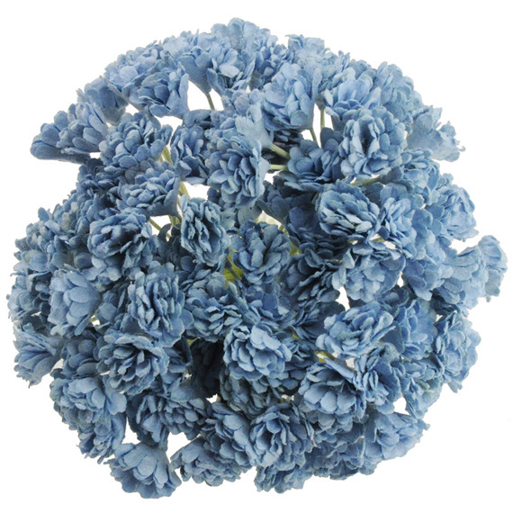 100 BABY BLUE MULBERRY PAPER GYPSOPHILA FLOWERS