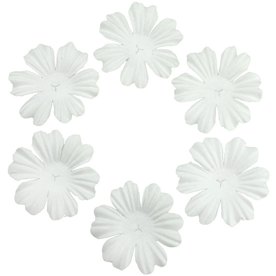 "100 FOUNDATION WHITE BLOOMS (2.2cm / 0.85"")"