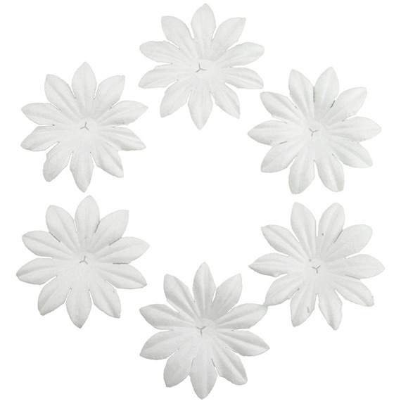 "100 FOUNDATION WHITE BLOOMS (3,5cm / 1,37"")"