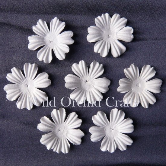 "100 FOUNDATION WHITE BLOOMS (3,8cm / 1,5"")"