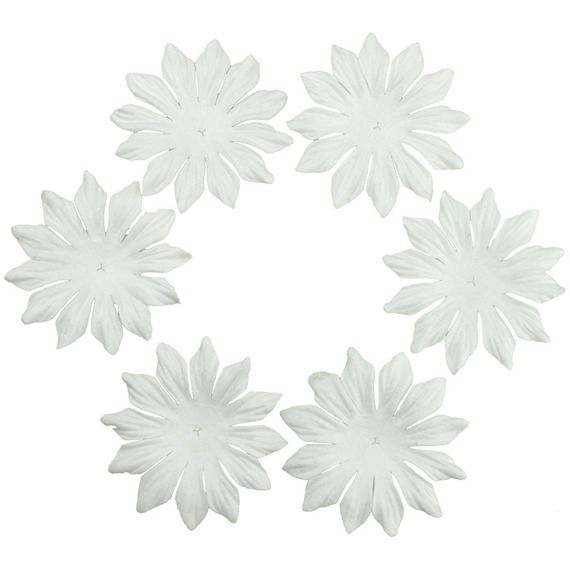 "100 FOUNDATION WHITE BLOOMS (4,5cm / 1,75"")"