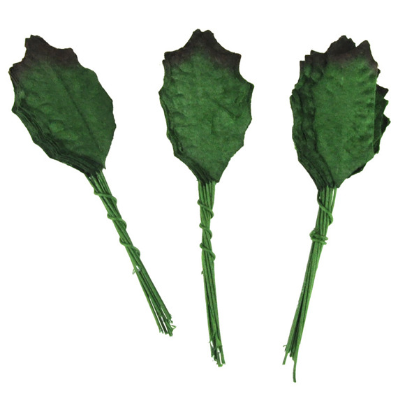 "100 GREEN MULBERRY PAPER LEAVES - 30mm (1.2"")"