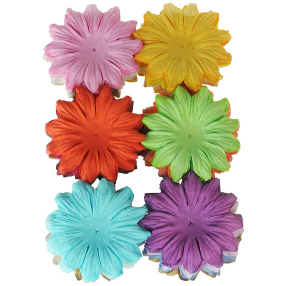 "100 MIXED COLOUR SUMMER BLOOMS (20 colours - 4,5cm / 1,75"")"