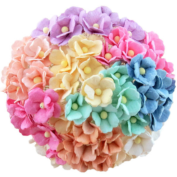 100 MIXED PASTEL COLOUR SWEETHEART BLOSSOM