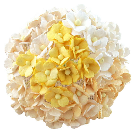 100 MIXED WHITE/CREAM SWEETHEART BLOSSOM