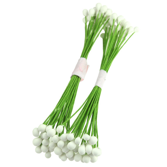 100 WHITE COLOR LONG STEM STAMENS