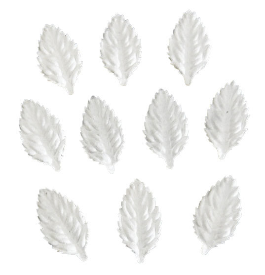 "100 WHITE MULBERRY PAPER LEAVES - 1½"" (40mm)"