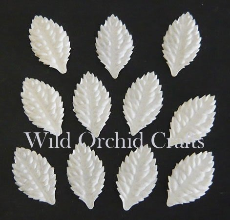 "100 WHITE MULBERRY PAPER LEAVES - 1¼"" (30mm)"