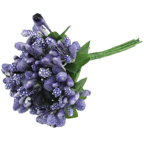 11 PURPLE/LILAC BEAD BERRY SPRAY CLUSTERS