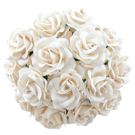 25 WHITE MULBERRY PAPER CHELSEA ROSES