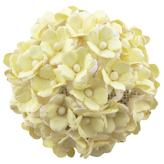 50 2-TNE PALE YELLOW MULBERRY PAPER SWEETHEART BLOSSOM FLOWERS