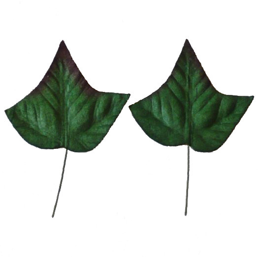 "50 GREEN MULBERRY PAPER IVY LEAVES - 35mm (1⅜"")"