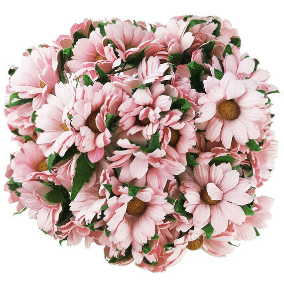 50 PINK MULBERRY PAPER CHRYSANTHEMUMS