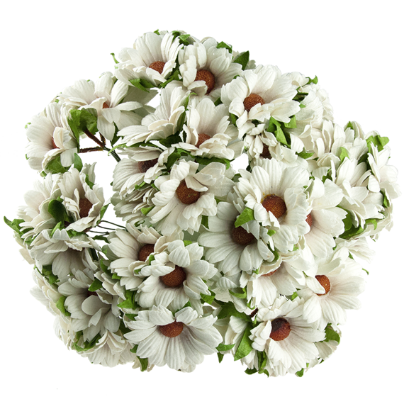 50 WHITE MULBERRY PAPER CHRYSANTHEMUMS