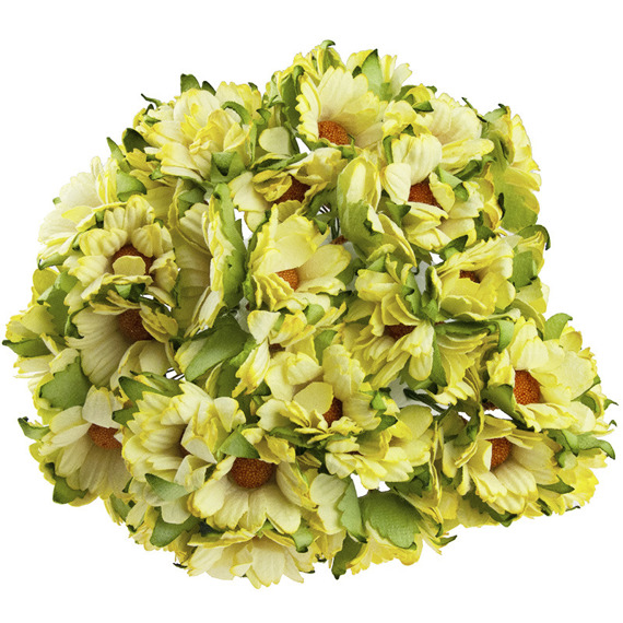 50 YELLOW MULBERRY PAPER CHRYSANTHEMUMS