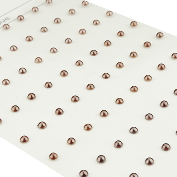 90 BROWN SELF- ADHESIVE PEARLS
