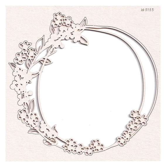 Chipboard - Round frame - Boho Love