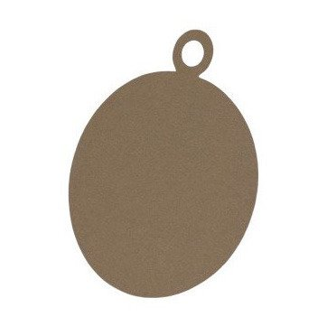 Card base - Christmas  Bauble - brown kraft - 14 cm