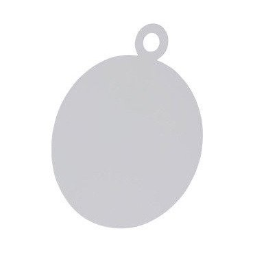Card base - Christmas  Bauble - white - 14 cm