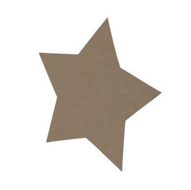 Card base - Star - brown kraft - 16,5 x 16,5 cm