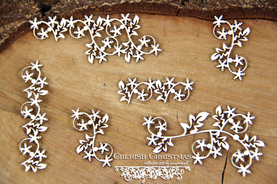 Chipboard - Cherish Christmas - Borders 02