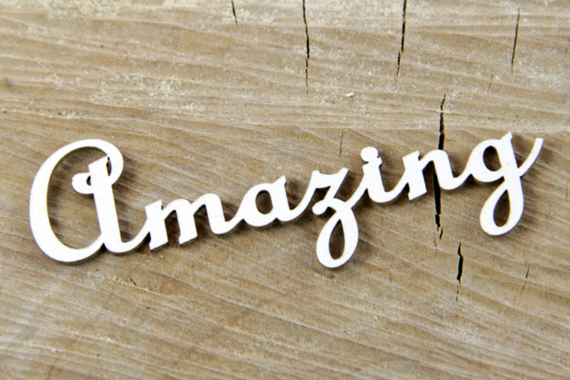 Chipboard Amazing Lettering  - 2 pcs