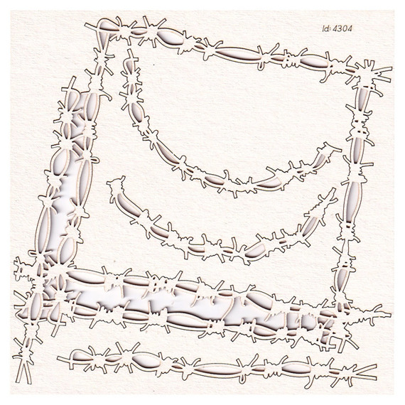 Chipboard - Barbwire Set