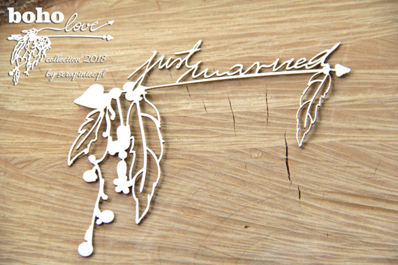 Chipboard - Big Arrows - Boho Love
