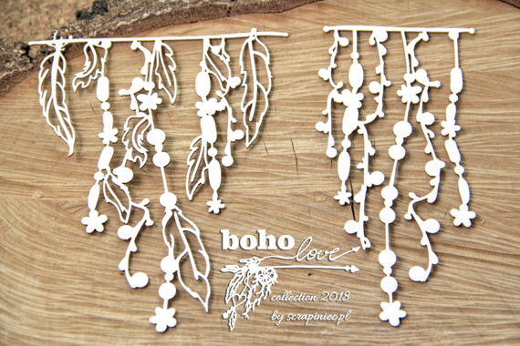 Chipboard - Big Garlands - Boho Love