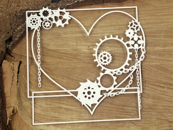 Chipboard - Big square frame -  Steampunk