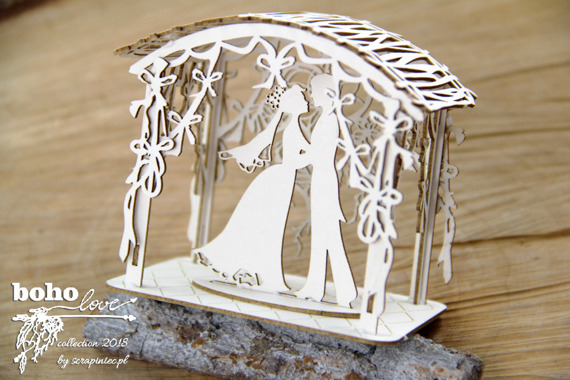 Chipboard Bower 3D - 02- Boho Love