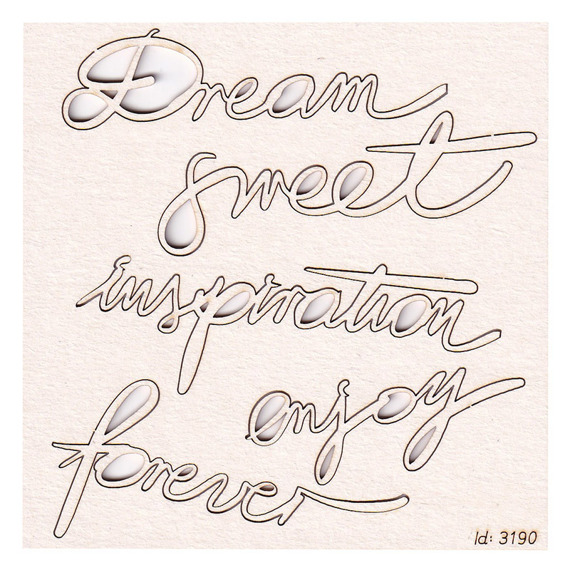 Chipboard Brush art script - Dream